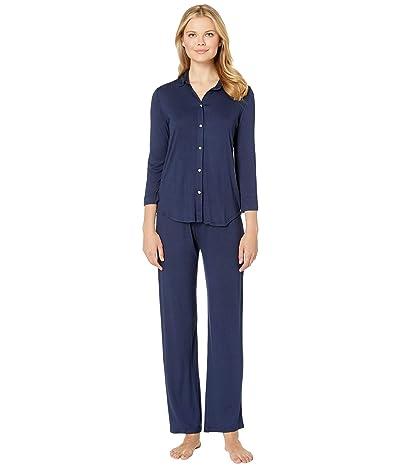 LAUREN Ralph Lauren His Shirt Long Pajama Set (Navy) Women