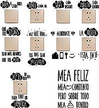 10pcs Pegatinas Pared Frases Españoles para Interruptor de Luz Enchufes Vinilos Aseo Lavabo Baño Stickers Retrete Inodoro ...
