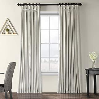 Half Price Drapes VPCH-VET1219-96 Signature Doublewide Blackout Velvet Curtain, Off White, 100 X 96