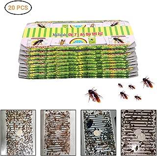 Einsgut - Trampa para cucarachas (10/20 unidades, pegamento fuerte, parásitos nacionales, repelente ecológico) 20 unidades