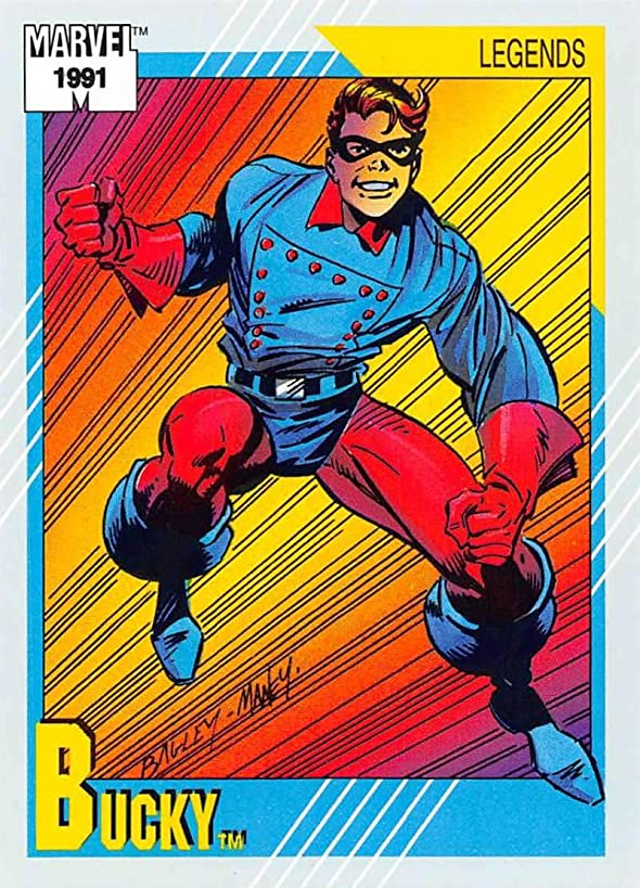 1991 Impel Marvel Universe Trading Card #140 Bucky COND Officila Marvel Character Card