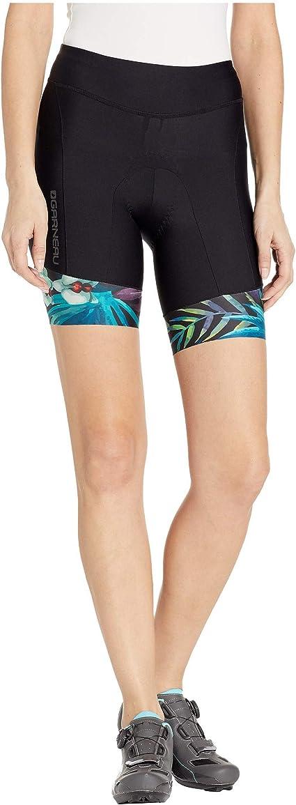 Louis Garneau Women's Pro 6 Carbon Padded Triathlon Shorts with Pockets, Tropical, Medium