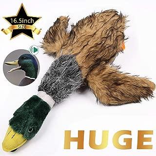 wangstar Pet Mallard Duck Dog Toy, Squeaky Dog Toy, Plush Puppy Dog Chew Toy for Small Medium Dogs