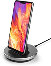 Encased LG V40 ThinQ, LG G7 ThinQ, LG G8 ThinQ Charger, (New Fast Charge 3.0 Compatible) USB C Desktop Stand, Quick Charging Dock w/ 5FT Long Power Cable (ac Adapter Sold Separately)