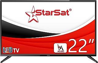 """StarSat 22"""" HD LED TV, AC/DC, Slim bezel design, HDMI, USB, AV and PC mode"""