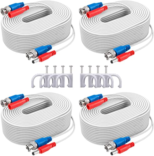 ANNKE Security Camera Cable (4) 30M/ 100ft All-in-One BNC Video Power Cables, BNC Extension Wire Cord for CCTV Camera...