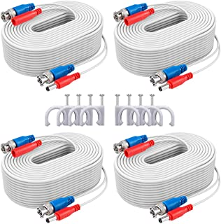 ANNKE Security Camera Cable (4) 30M/ 100ft All-in-One BNC Video Power Cables, BNC Extension Wire Cord for CCTV Camera DVR ...