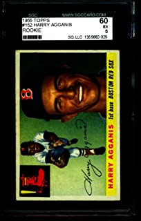 1955 TOPPS #152 HARRY AGGANIS RED SOX ROOKIE SGC 60 = 5 2025