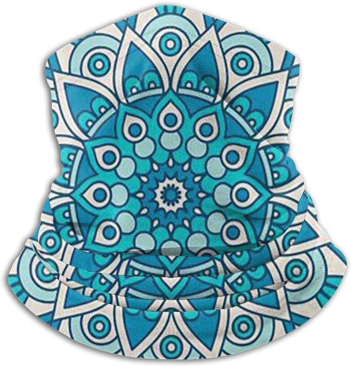 Mandala Black Multi-function Neck Warmer Gaiter Polyester Neck Warmer Windproof Winter Neck Gaiter Cold Weather Scarf For Men Women