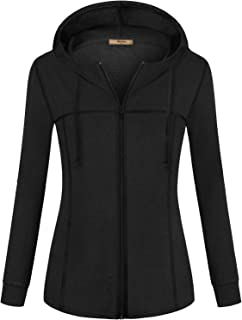 Miusey Womens Zip Up Long Sleeve Running Thin Jacket Sport Workout Hoodie