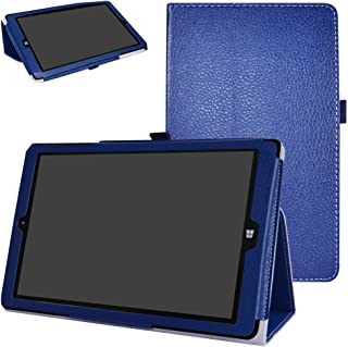 NuVision Solo 10 Draw TM101W610L Case,Mama Mouth PU Leather Folio 2-Folding Stand Cover for 10.0