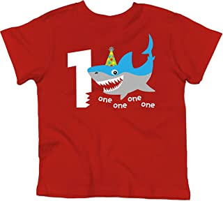 Olive Loves Apple Shark 1st Birthday Shirt for Baby Boys Shark Themed First Birthday Outfit