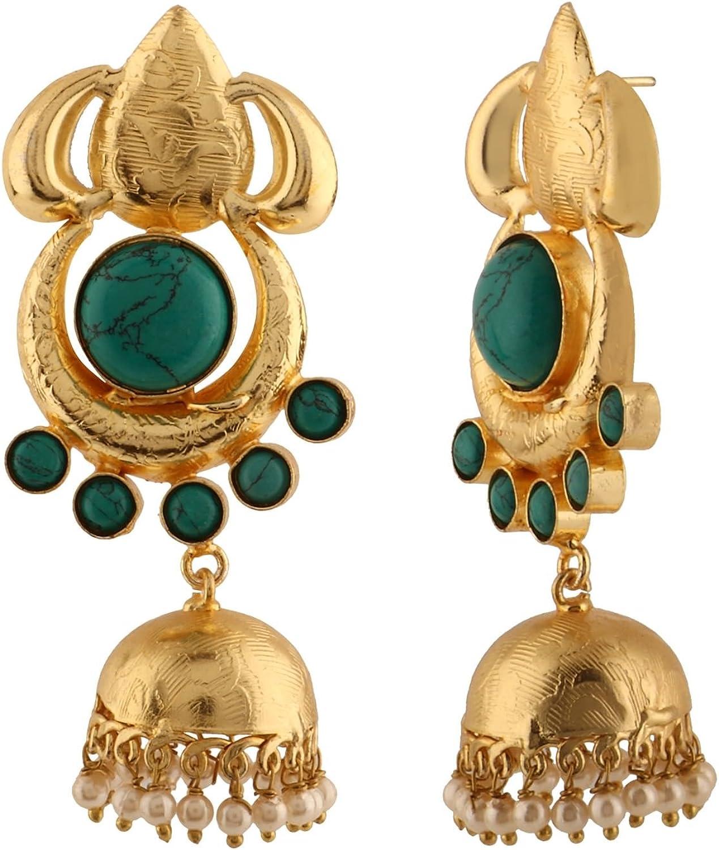 Dangly Earrings Victorian Style Earrings LISA Long Earrings Clip-Ons Gold Tone Blue Green Enamel