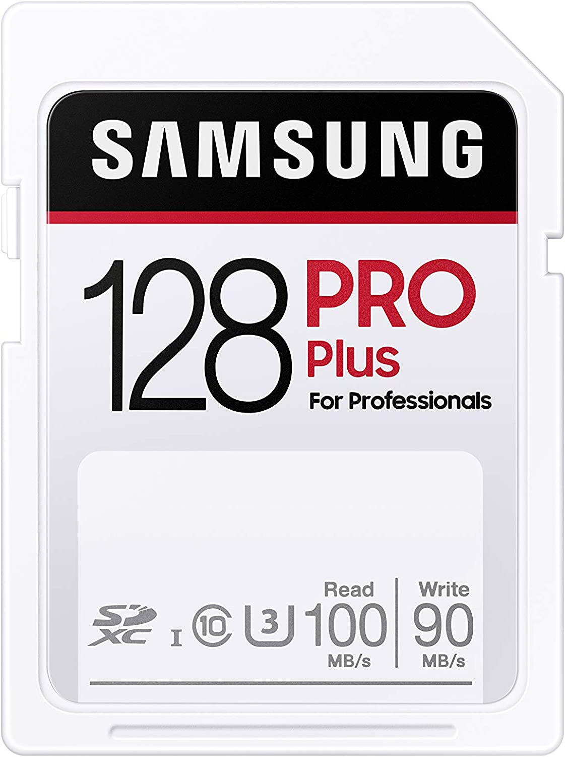 SAMSUNG PRO Plus SDXC Full Size SD Card 128GB (MB SD128H) (MB-SD128H/AM)
