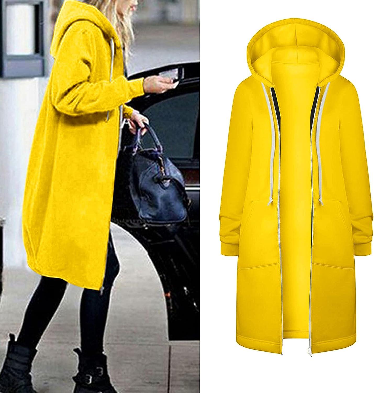 Women's Winter Warm Hoodie Cardigan Trench Coat Floral Print Zipper Cotton Blend Windbreaker Long Jacket Outerwear