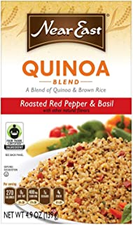 Near East Roasted Pepper and Basil Quinoa Blend, 4.9 ounces, (Pack of 3)