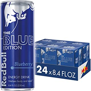 Red Bull Blue Edition, Blueberry Energy Drink, 8.4 Fl Oz Cans (6 Packs of 4, Total 24 Cans)