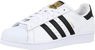 adidas Originals Men's Superstar Sneaker, White/White/Black, 9.5 D (M)