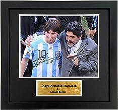 AWJK Diego Maradona Signed Printed Autograph Argentina Photo Display Reissue Version,Maradona Signature Photo Frame Gift,3