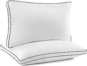 وسادة سرير فاخرة عالية الجودة من JZS (2 حزمة) - وسائد سرير بجوانب خلفية - مقاس كوين