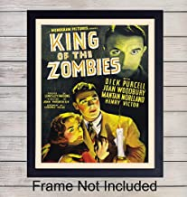 Zombie Wall Art Print - Unframed - Chic Home Decor For Bedroom, Living Room, Kids Room, Bathroom - Great Gift For Vintage Horror Movie Fans - Ready to Frame (8x10) Photo - King of the Zombies