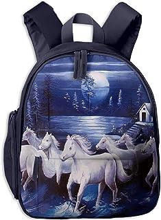 子供用 バックパック キッズバッグ ランドセル リュック通学 学童バッグ 馬の群れ ガールズ ボーイズ バッグ