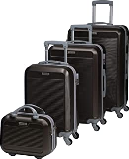 Chalish Luggage Trolley Bags for unisex 4pcs, Brown