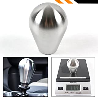 Cuztom Tuning Premium JDM 3 Inch Oval Stainless Steel Heavy Weighted Automatic Manual Transmission Shifter Gear Knob Selector
