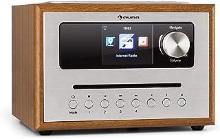 auna Silver Star CD - Cube Radio, WiFi-radio met CD-speler, microsysteem, 21 cm breedte, VHF-tuner, Bluetooth, 10 watt RM...