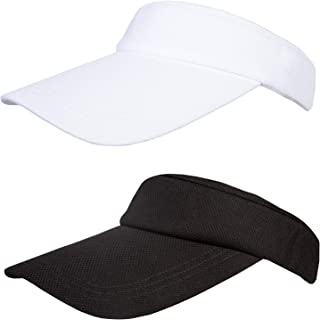 2 Pcs Women Sun Visor Hat Perspiration and Breathable Sun Protection Visor Sport Leisure Cap, Adjustable Hat for Golf Cycl...