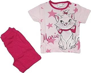 WD42-202 Disney Tutina Pagliaccetto neonata Mezza Manica Cotone Marie aristogatti Art