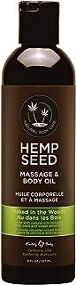 Hemp Seed Massage & Body Oil, Naked in the Woods Scent - 8 fl. oz. - Nourishing, Moisturizing Massage Oil - Hemp Seed, Apr...