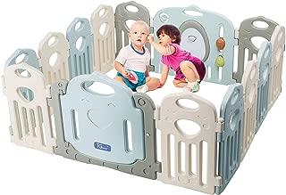 Baby Playpen - Kids 14 Panel Activity Centre Safety Play Yard, Home Indoor Outdoor New Pen