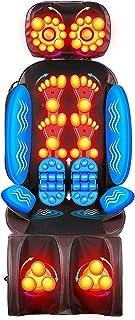 FYHpet Cojín de la Silla del Masaje para el Asiento Carro Oficina sofá | vibratorio amasamiento Shiatsu 16 Nodos Espalda, Hombros y Cuello Masajeador piernas Espalda con Calor