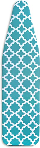 """Epica Silicone Coated Ironing Board Cover- Resists Scorching and Staining - 15"""" x54 (Green Lattice)"""