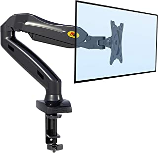 NB North Bayou Monitor Desk Mount Stand Full Motion Swivel Monitor Arm with Gas Spring for 17-27''Monitors(Within 4.4lbs to 14.3lbs) Computer Monitor Stand F80