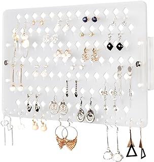 Soporte organizador de joyas de Jackcube con diseño de acrílico esmerilado con 94 agujeros (escarchado, 15.7 x 9.4 x 0.9 pulgadas) – MK201B