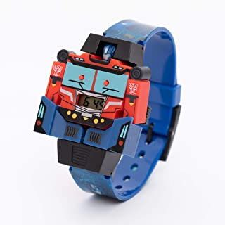 Hasbro Transformer Boys Transforming Head Digital Wristwatch - SA8124 Transformer E