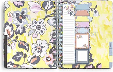 Vera Bradley Planner Sticky Notes, Snap-in 9 Count Adhesive Note Pack with 3 Sizes and 30 Sheets/Pad, Floating Garden