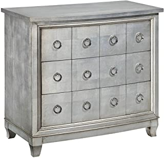 Treasure Trove Accents Three Drawer Chest, Burnished Silver
