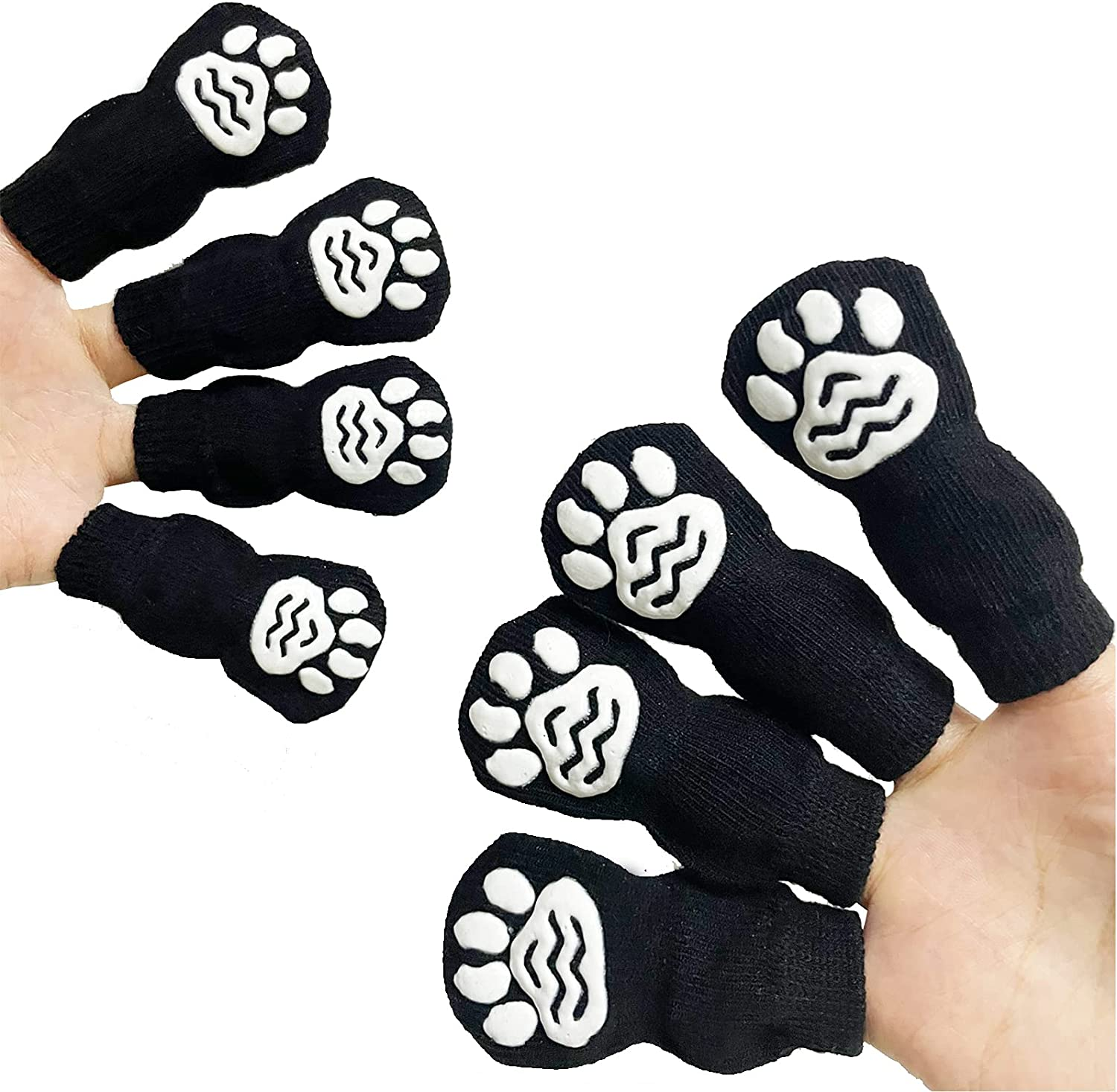 TUESTOP 4 PCS Full Cotton Dog wi Popular products Socks Dogs free shipping for Pet Small
