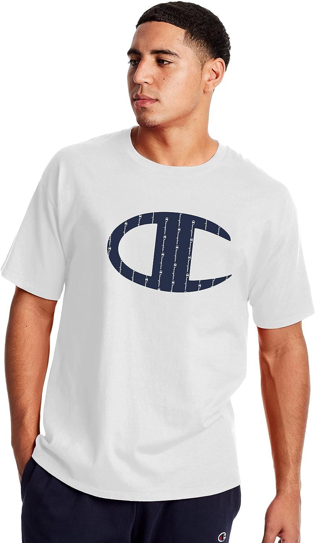 Champion Men's Classic T-Shirt Logo Big Sale San Antonio Mall SALE% OFF C