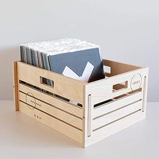 Valigia porta dischi in vinile in legno