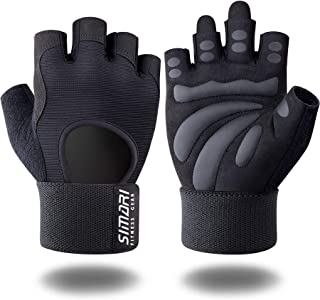 SIMARI Workout Gloves for Women Men,Training Gloves with Wrist Support for Fitness Exercise Weight Lifting Gym Crossfit,Made of Microfiber SMRG905