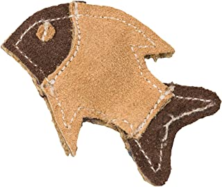 """Spot Ethical Pets Dura Fused Leather Fish Cat Toy, 4"""""""