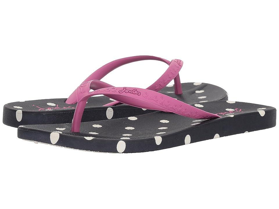 Joules Flip-Flop (Navy Spot Rubber Mix) Women