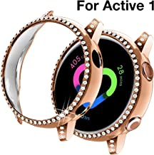 Yolovie Compatible with Samsung Galaxy Watch Active 1 Case 40mm, NOT for Active 2. PC Protective Cover Women Girl Bling Cr...