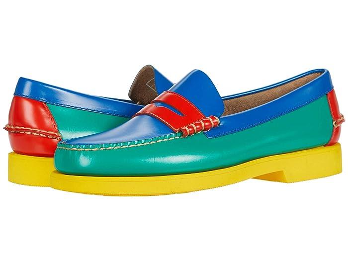 Mens Vintage Shoes, Boots | Retro Shoes & Boots Sebago Dan Polaris CMYK Multicolor Mens Shoes $160.00 AT vintagedancer.com