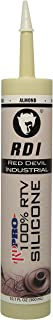 Red Devil Series 08162I RD Pro Industrial Grade RTV 100% Silicone Sealant, Almond, 10.1 oz, 1-Pack