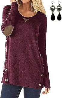 Onsoyours Donna Maniche Lunghe Pullover Maglia Maglione Collo Alto Vintage Elegante Invernali Sweater Baggy Jumper Top Casual Sweatshirt